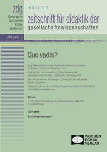 Beitrag Zeitschrift Für Didaktik Der Gesellschaftswissenschaften ZDG
